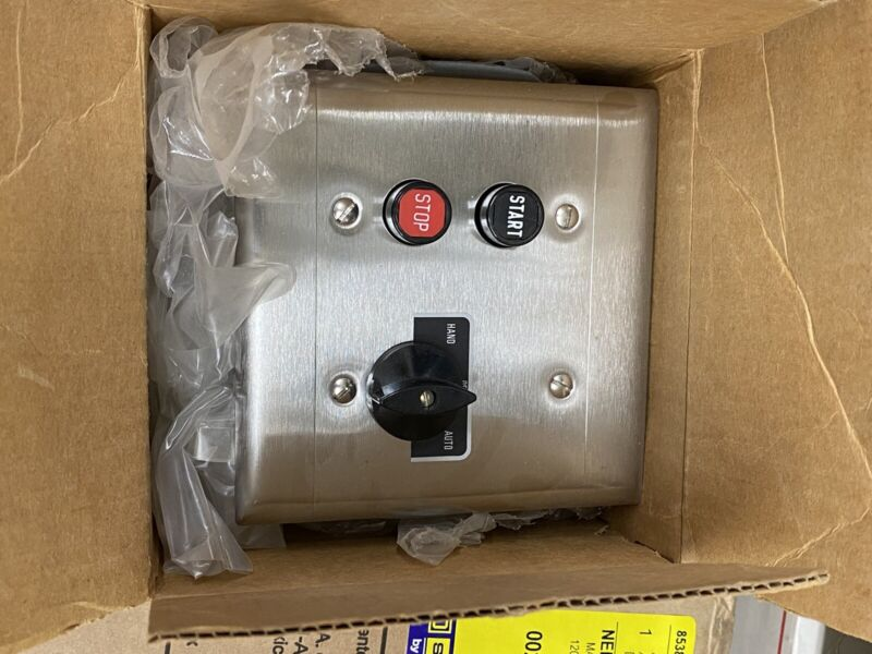 9001-BF314 2g SS plate with start-stop PB and HOA switch