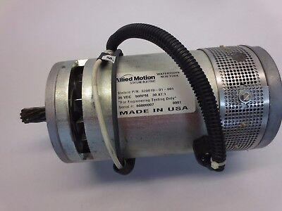 ALLIED MOTION / STATURE ELECTRIC S28019-01-001 MOTOR 36VDC, 90RPM, 30.87:1 RATIO