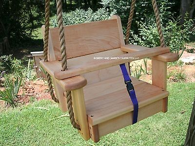 Wood Tree Swings  Genuine Maple Kids Seat