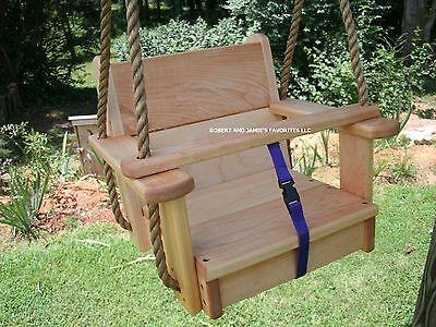 Wood Tree Swing  Genuine Maple Kids Seat Swing