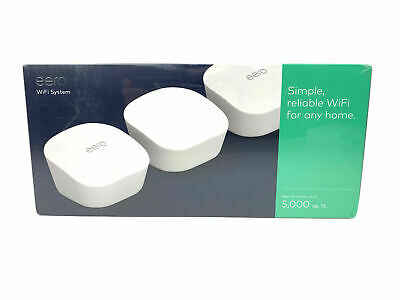 eero mesh (3rd Generation) Wi-Fi Router/Extender - Pack of 3 (New Sealed)