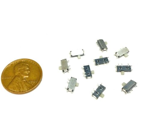 10 Pieces MSK-12C02 Slide switch 7 Pin smd horizontal small mini Tactile PCB A26
