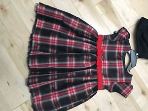 Christmas dresses from carters , size 18 and 24 months