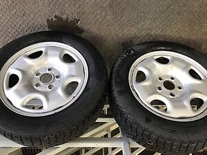 225/55/16 WINTER SNOW TIRES AND RIMS Oakville / Halton Region Toronto (GTA) image 2