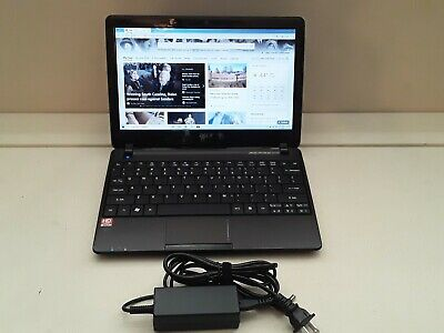 Black Acer Aspire One 722 Netbook (mini laptop) Windows 10 Home, 2GB RAM, 500GB