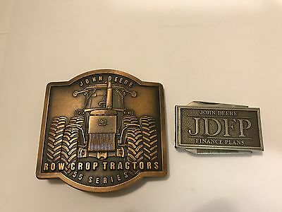 Vtg John Deere Row Crop Tractors Intro Meeting Buckle & JDFP Money Clip
