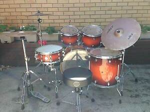 5 Piece Mapex Drum Kit with Zildjian Cymbals Southport Gold Coast City Preview