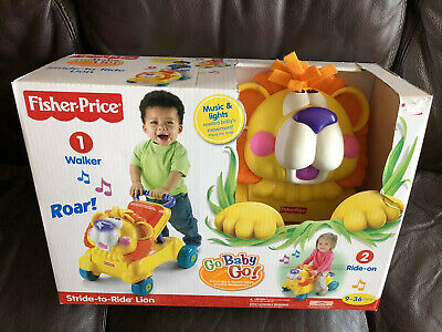 Stride To Ride Lion Fisher Price Walker Ride On Go Baby Go Music And