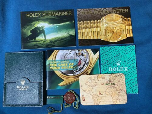 Rolex Submariner Booklet Set From 1994