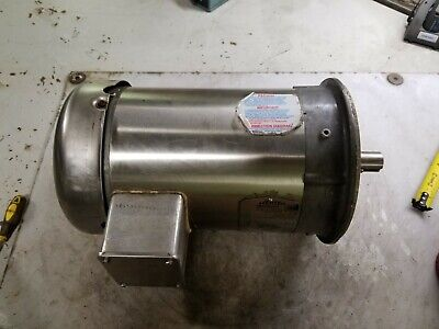 Baldor 3 Hp Stainless Electric Motor 230460 Vac 1780 Rpm 3 Phase 182tc Frame