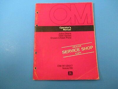 John Deere Operators Manual Om-n159417 1600 Series Drawn Chisel Plow M5135