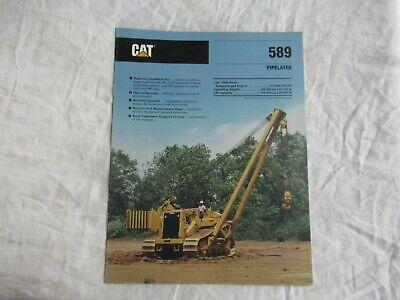 1989 Cat Caterpillar 589 Pipelayer Pipe Layer Brochure