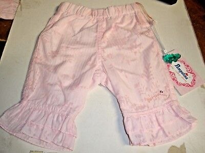 NEW Pampolina infant girl pink pants 3 months retails $38