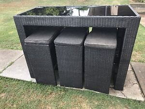 7 piece wicker bar outdoor setting Yamanto Ipswich City Preview