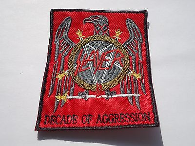 SLAYER DECADE OF AGGRESSION THRASH METAL EMBROIDERED PATCH