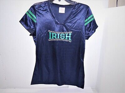 Notre Dame Fighting Irish Jersey by KA Knights for Her Apparel Size S 4/6 NWT