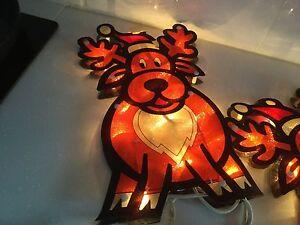 Reindeer and Gingerbread Christmas Lights indoor/outdoor