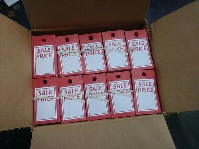 Red And White Sale Price Merchandise Tags Box Of 2500