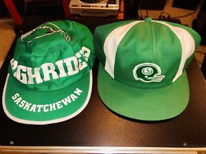 1980's SASKATCHEWAN ROUGH RIDERS HAT CAP Snap Back $40 each​