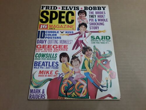 Vintage Spec 16 Teen Magazine No.17 Spring 1969. Music, T.V. Pop Culture