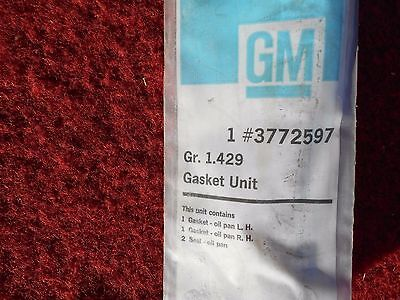 1958 1965 Chevy 409 348 Engine Oil Pan Gasket NOS GM # 3772597