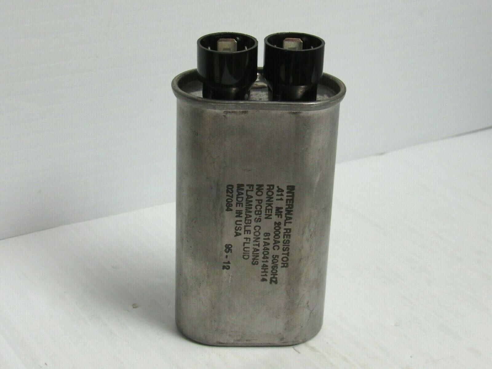 NEW RONKEN CAPACITOR INTERNAL RESISTOR 81A40414H14 .411 MF 2000AC  - $30.00