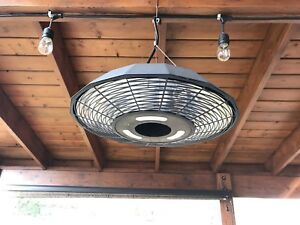 "1500W 18"" Infrared patio electrical heater with LED light"