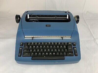 Stunning Blue Ibm Selectric Model 7x Typewriter 8