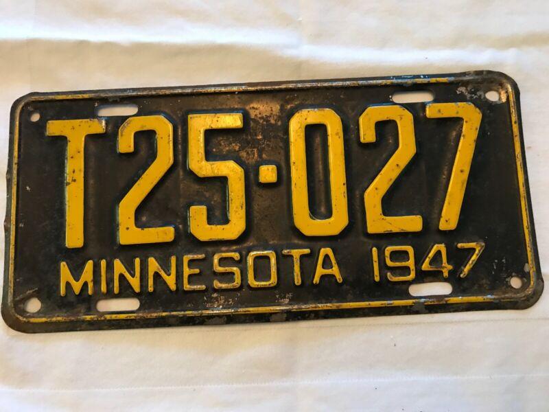 1947 Minnesota Vintage License Plate