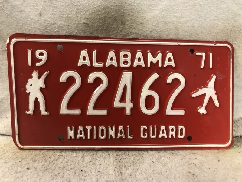 1971 Alabama National Guard License Plate