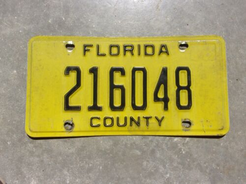 Florida County license plate  #   216048