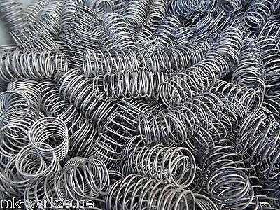 500 Druckfedern 45x24x1,2mm Druckfeder Stahlfedern Spiralfeder Stahlfeder Feder