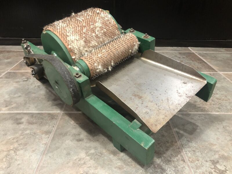Manual Drum Wool Carder Green Spinning