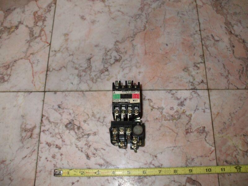 Mitsubishi S-A10 Magnetic Contactor  Cont. 240VAC w/ Aux. Contact