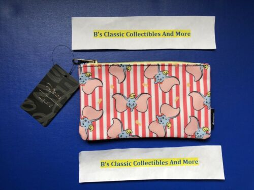 Loungefly Dumbo Zip Pouch Dumbo Stripe Print Cosmetic/Coin Bag/Case Disney New!