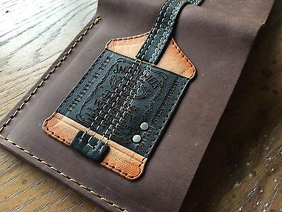 Michael Anthoy Jack Daniels Leather Mens Bass Guitar Wallet w/Guitar Pick Holder