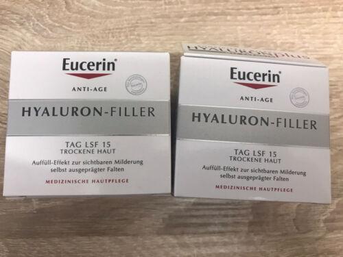 Doppelpack Eucerin Hyaluron-Filler Tagespflege für trockene Haut mit LFS 15