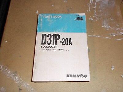 Komatsu D31P-20A Bulldozer Dozer Crawler Shovel Parts Book Catalog Manual  for sale  Dubuque