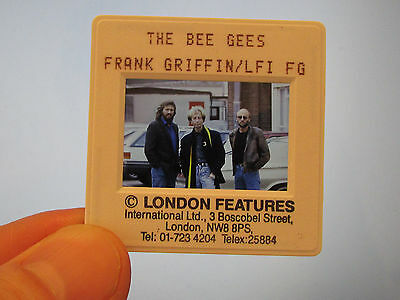 Original Press Promo Slide Negative - Bee Gees - 1990's