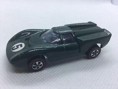 Hot Wheels Lola GT70 Original Redline Dark Green 1968- Excellent
