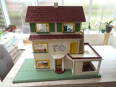 """großes Puppenhaus """"Haus Renate"""" mit viel Zubehör 85x100x43 cm (588)"""