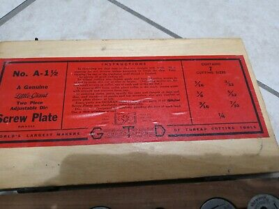 Antique Greenfield Tap And Die Set In Orignal Wooden Box Gtd