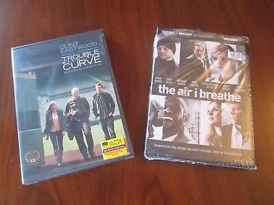 LOT of 2 DVDs Trouble with the Curve & The Air I Breathe - Still Sealed
