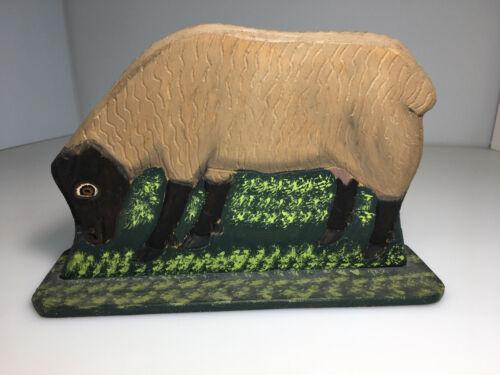 1988 Menno Shirk Grazing Sheep Folk Art