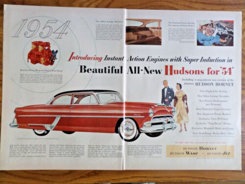 1954 Hudson Hornet Club Coupe Ad  New Flight-Line Styling