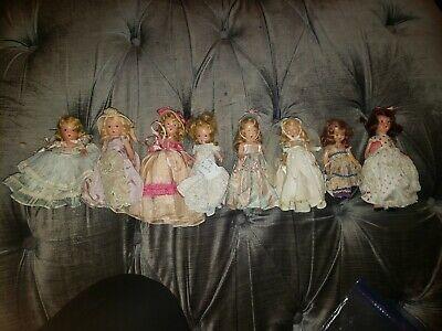 Vintage Lot Plastic Sleep Eye Nancy Ann Storybook Dolls NASB Plastic and bisque