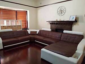 MASSIVE 100% GENUINE LEATHER IMPORTED CORNER LOUNGE  RRP $8000+ Woodville Charles Sturt Area Preview