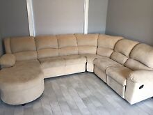 Sofa Couch Lounge with Recliner and Chaise Pitt Town Hawkesbury Area Preview