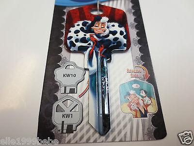 CRUELLA DE VIL Key Kwikset KW1 House Key Blank / Authentic Disney House Keys - Disney Cruella De Vil