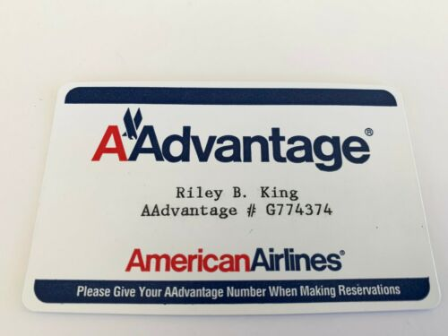 BB Riley B King OWNED AA American  Airlines Miles Card #2 JULIENS Estate